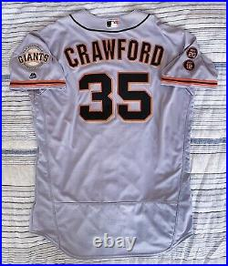 Brandon Crawford San Francisco Giants Game Used Worn Jersey 2016 Photomatched