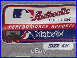 Brian McCann 2015 Yankees Road Game Jersey Berra postseason patches Steiner MLB