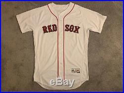 Brock Holt Game Used Worn (TI) 2016 Boston Red Sox MLB Baseball Jersey