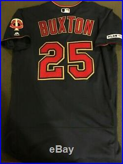Byron Buxton 2019 Minnesota Twins Game Used Worn Jersey! Memorial Day HR