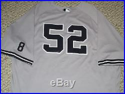 CC Sabathia #52 size 56 2016 Yankees Game used Jersey ROAD Berra patch Steiner