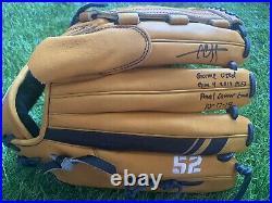 CC Sabathia New York Yankees Game Used Worn Glove Final Career Game Signed MLB