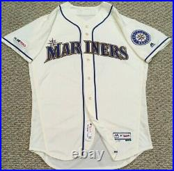 CRAWFORD #3 size 44 2019 Seattle Mariners Home Cream game used jersey 150 MLB