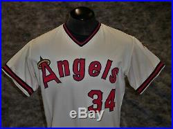 California Angels, Vintage 1977-78 Ken Brett Game Used / Worn Jersey
