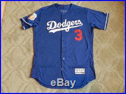 Carl Crawford 2016 Los Angeles Dodgers player/game used jersey MLB authenticated