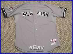 Carlos Beltran 2015 Yankees Game Jersey Road Berra postseason patch Steiner MLB