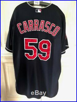 Carlos Carrasco Game Used Worn Jersey, Cleveland Indians, Opening Day, MLB Auth