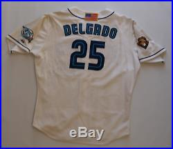 Carlos Delgado game worn used 2001 Toronto Blue Jays uniform! Jersey & Pants