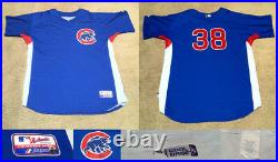 Carlos Zambrano Chicago Cubs Game Used Worn 2010 BP Batting Practice Jersey LOA