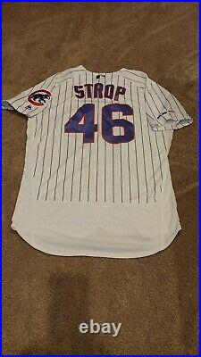Chicago Cubs 2019 Pedro Strop Game Worn Used Jersey World Series