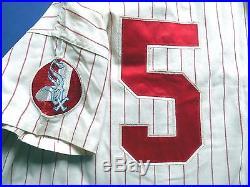 Chicago White Sox 1971 Game Worn FLANNEL Jersey Red Pinstripe Era