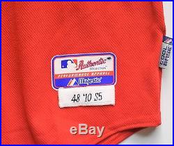 Chipper Jones 2010 Atlanta Braves game used autographed jersey (Sunday jersey)