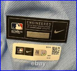 Chris Carpenter 20 Game Used/Worn/Issued St. Louis Cardinals Powder Blue Jersey