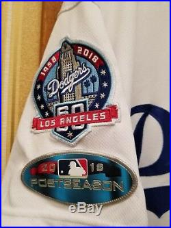 Chris Woodward GAME USED NLCS Game 5 Los Angeles Dodgers Jersey Rangers Manager
