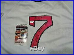 Christian Vazquez Boston Red Sox Autographed Game Used 2017 Jersey coa JSA MLB
