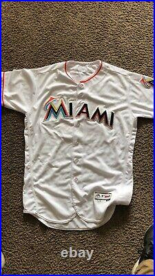 Christian Yelich Autographed Game Used Miami Marlins 2016 Jersey