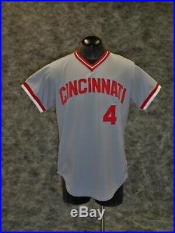 Cincinnati Reds Vintage 1979 Game Used / Worn Jersey. Harry Dunlop. Ex. + Cond