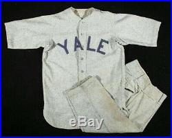 Circa 1920 Yale University Baseball Uniform Presents Beautifully Rare Ivy League