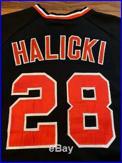 Classic 1979 SF GIANTS #28 Halicki BLACK WILSON GAME JERSEY