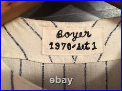 Clete Boyer Atlanta Braves game used worn flannel jersey PERFECT in every way