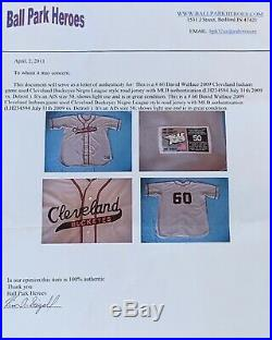 Cleveland Indians Buckeyes Throwback Game Used Jersey Size 50