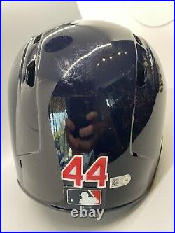 Cleveland Indians Game Used/Issued #44 Batting Helmet MLB Authenticated Hologram