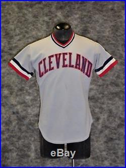 Cleveland Indians, Vintage 1982 Rick Manning Game Used / Worn Road Jersey