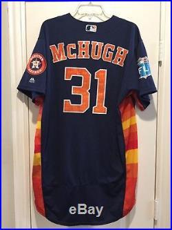 Collin McHugh #31 Houston Astros Game Used Worn Jersey Sz 46