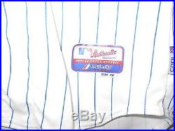 Cubs 2014 Game-Worn Unwashed Home Pinstripe Jersey OF #8 Chris Coghlan