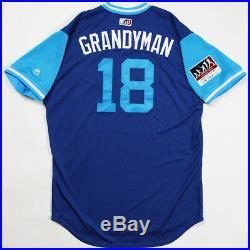 Curtis Grandyman Granderson Game Used & Worn 2018 Players Weekend Jays Jersey