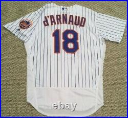 D'ARNAUD size 48 #18 2018 New York Mets game jersey home white issued MLB HOLO