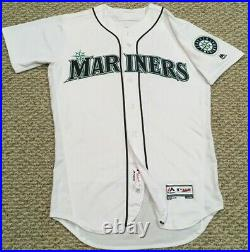 DEE GORDON size 40 #9 2018 Seattle Mariners game used jersey home white MLB HOLO