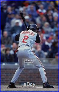 DEION SANDERS 2001 Game Used Cincinnati Reds JERSEY COA HOF Last MLB Jersey