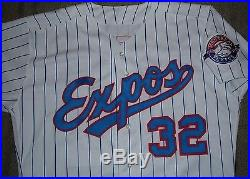 Dennis Martinez Montreal Expos 1993 Game Worn Used Jersey Mears Loa (orioles)