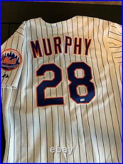 Daniel murphy Game Used mets jersey