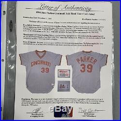 Dave Parker Cincinnati Reds Game Used Worn Jersey 1984 LOA