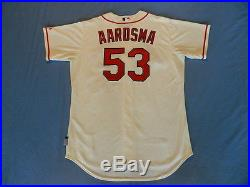 David Aardsma 2014 St. Louis Cardinals non game used jersey MLB authenticated
