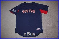 David Ross Boston Red Sox Game Used Worn Baseball BP Jersey, World Series Patch