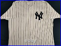 David Wells 1998 New York Yankees #33 Game Issued Home Pinstripe Size 54 Jersey