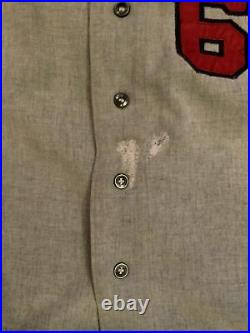 Denver Bears 1969 Game Used Jersey #6 100 year Anniversary Patch Flannel