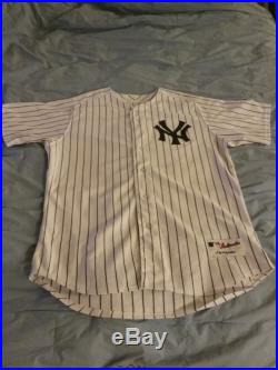 Derek Jeter New York Yankees Game Used 2014 Final Season Home Majestic Jersey