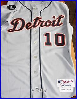 quality design e523c d0c32 Detroit Tigers 2009 Game Used Road Jersey Jim Leyland MGR ...