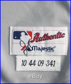 Detroit Tigers 2009 Game Used Road Jersey Jim Leyland MGR size 44