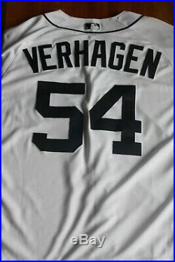 Detroit Tigers 2018 Game Used Jersey Alan Trammel Number Ret Drew Verhagen P
