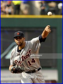Detroit Tigers David Price Game Worn Jersey vs Cleveland, Los Angeles Dodgers