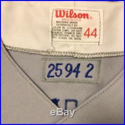 Devon White Game Used Worn Toronto Blue Jays Road Jersey 1994 MLB 125th Patch