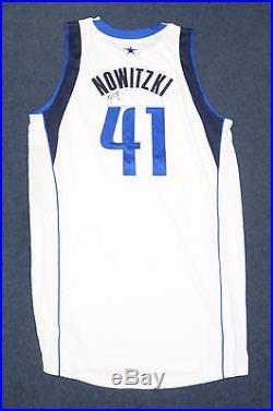 Dirk Nowitzki Signed 2013-14 Game Used Mavericks Jersey Autograph MeiGray LOA