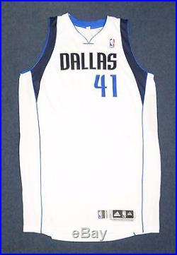 new product 44638 94d55 Dirk Nowitzki Signed 2013-14 Game Used Mavericks Jersey ...