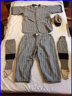 Early 1900's Cmplt Baseball Uniform Rescued From Chicago White Sox Comiskey Park