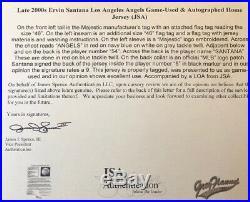 Ervin Santana Game Used Signed Los Angeles Angels Jersey / FULL LOA